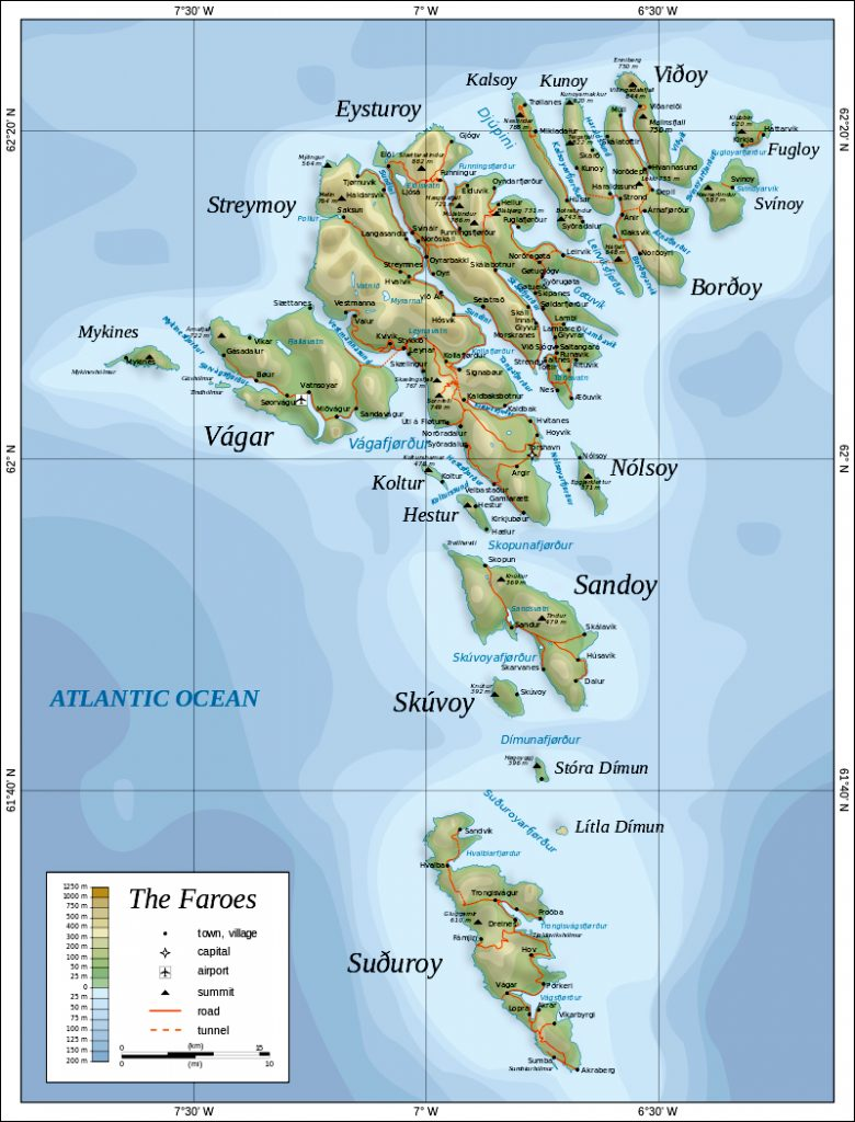 Wyspy Owcze mapa