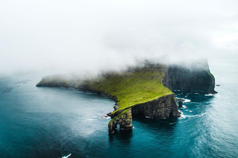 Wyspy Owcze mgła